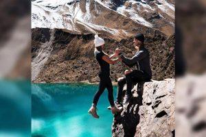 Над пропастью в Перу: фото пары из США вызвало фурор в соцсетях