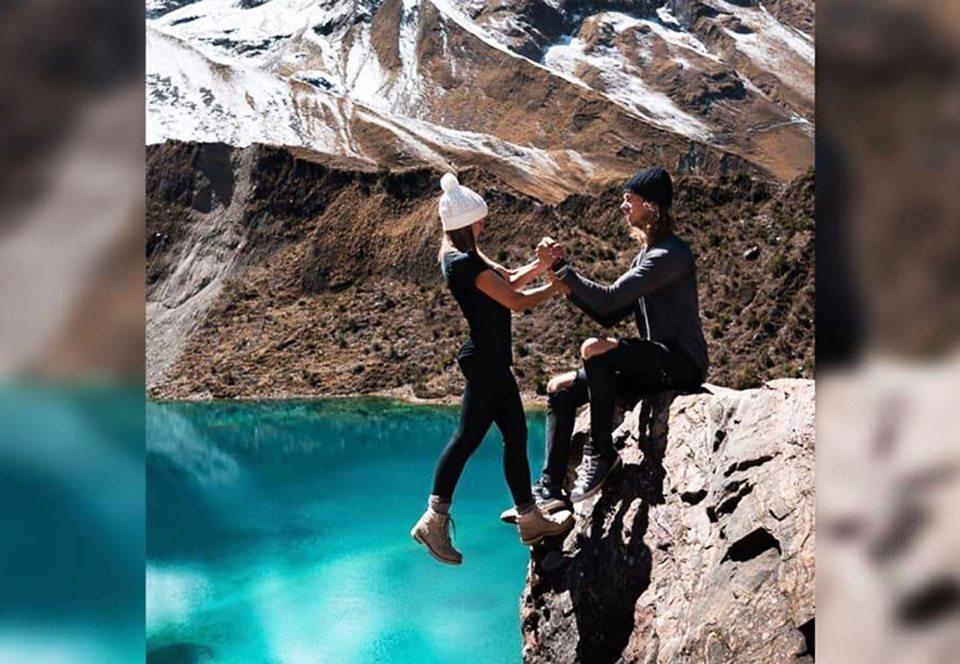 Над пропастью в Перу: фото пары из США вызвало фурор в соцсетях.Вокруг Света. Украина