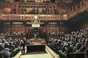 Парламентарии-приматы Бэнкси уйдут с молотка
