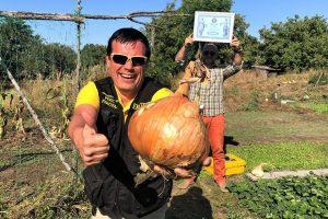 Под Киевом вырастили луковицу размером с арбуз