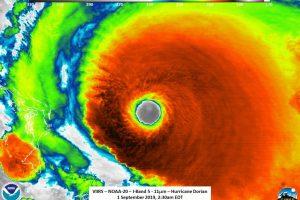 «Дориан» стал мощнейшим ураганом на Багамах за всю историю наблюдений