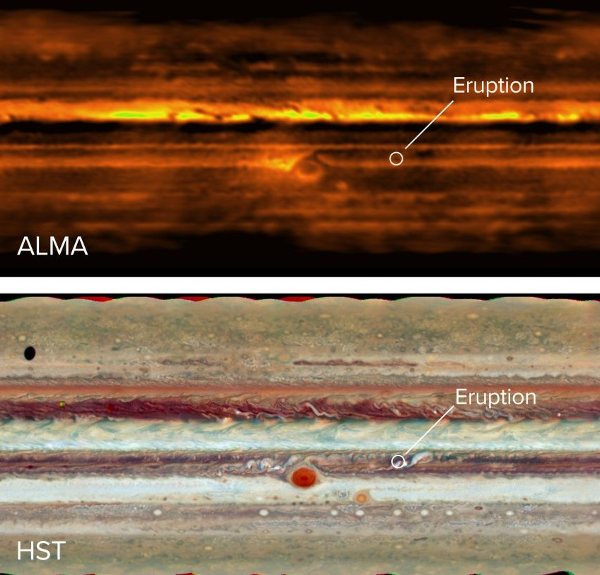 штормы на Юпитере