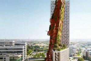 В Праге появится небоскреб с застрявшим в стене кораблем