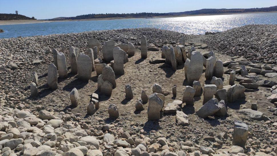 Засуха обнажила «Испанский Стоунхендж» впервые за полвека.Вокруг Света. Украина