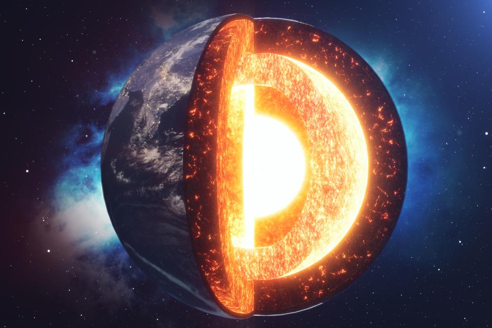 Раскаленные континенты внутри Земли сформировались 4,5 млрд лет назад