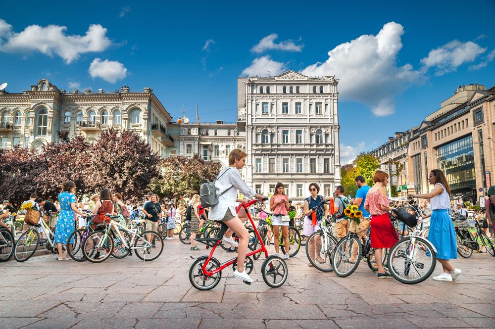 В Киеве придумали новый формат велоэкскурсий