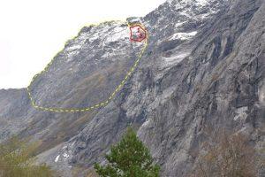 В Норвегии произошел обвал горы, которого ждали 5 лет