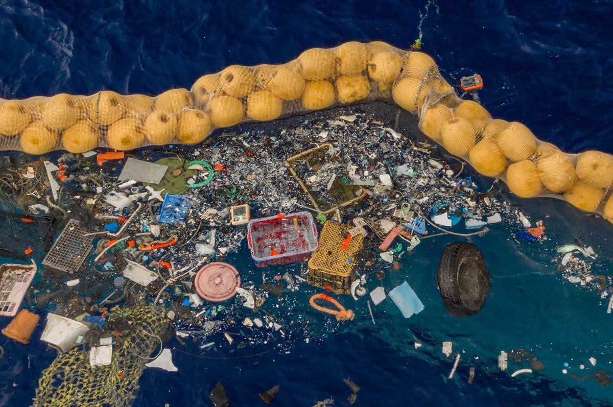 Устройство по очистке Большого тихоокеанского мусорного пятна впервые заработало