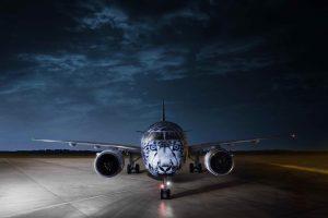 Самолет с портретом снежного барса на борту впервые приземлится в Украине