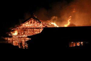В Японии сгорел замок Сюри — памятник мировой архитектуры