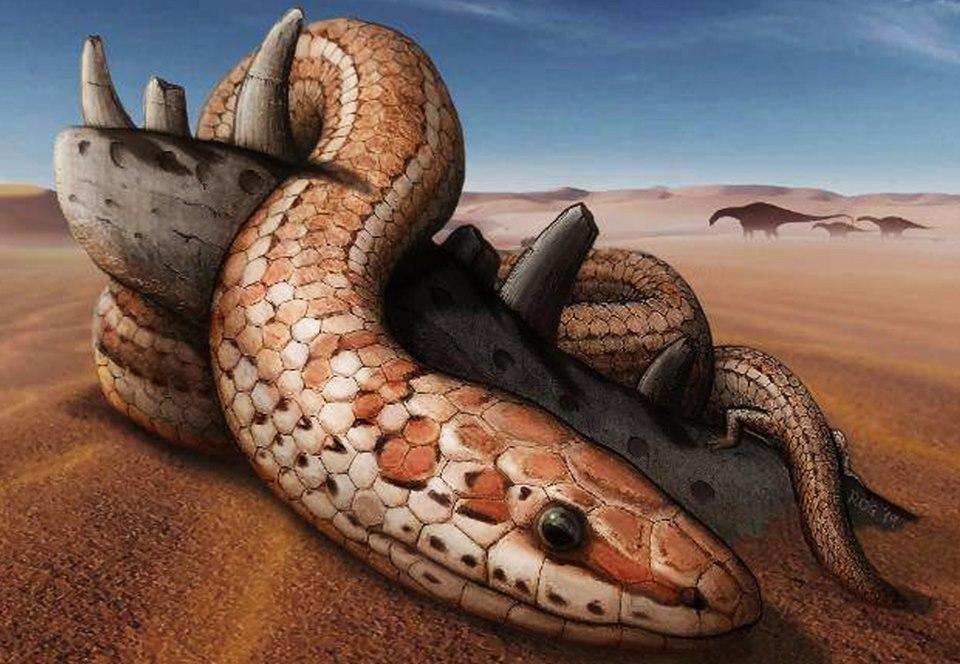 У древних змей были задние лапы