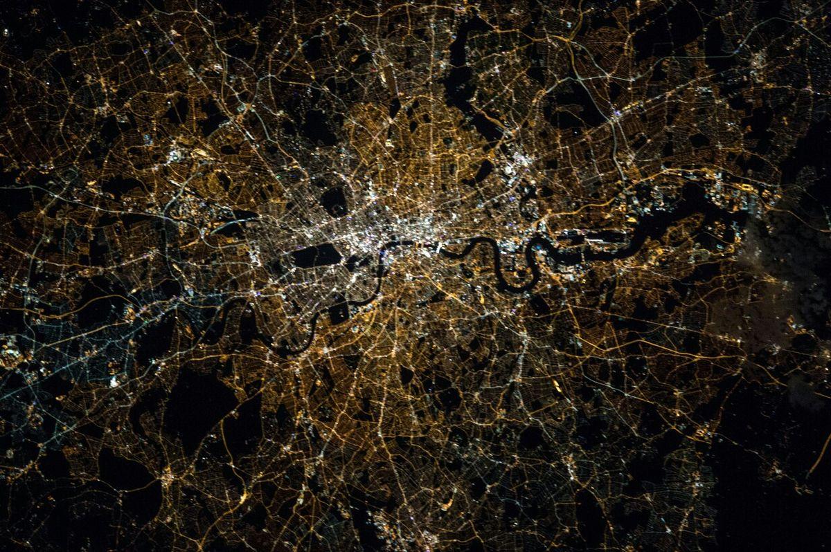 Астронавт НАСА запечатлела вид ночного Лондона с МКС.Вокруг Света. Украина
