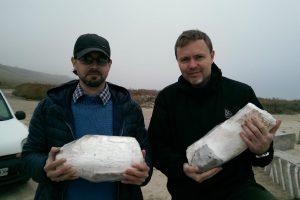 На берегу Азовского моря случайно нашли бивень мамонта