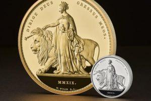 В Великобритании выпустили уникальную золотую монету весом пять кг