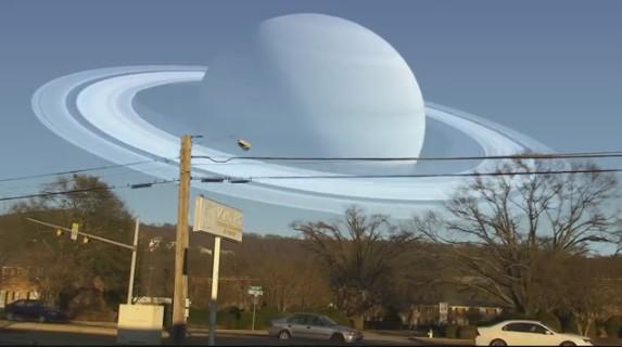 Как выглядят планеты Солнечной системы на месте Луны