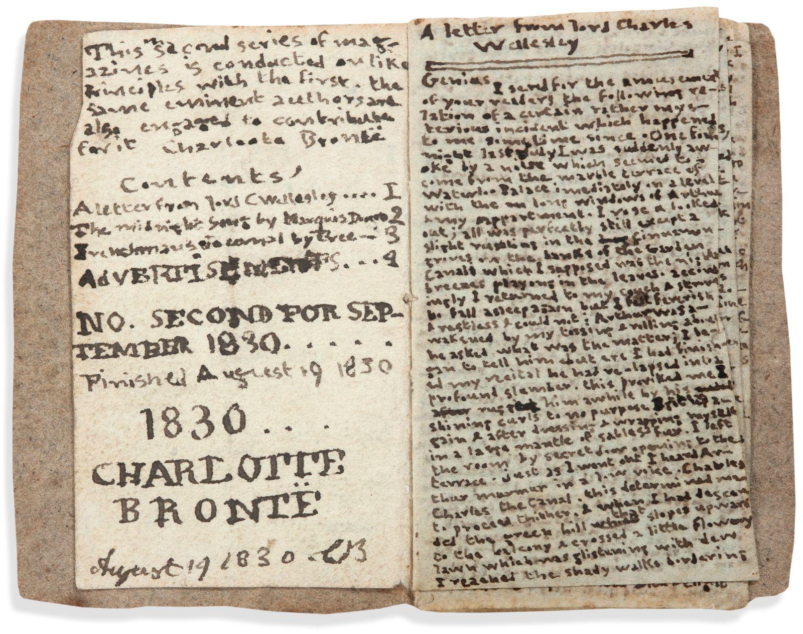 В Париже рукопись юной Бронте ушла с молотка за €780 тысяч