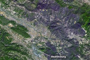 НАСА показало последствия калифорнийского пожара на спутниковом снимке