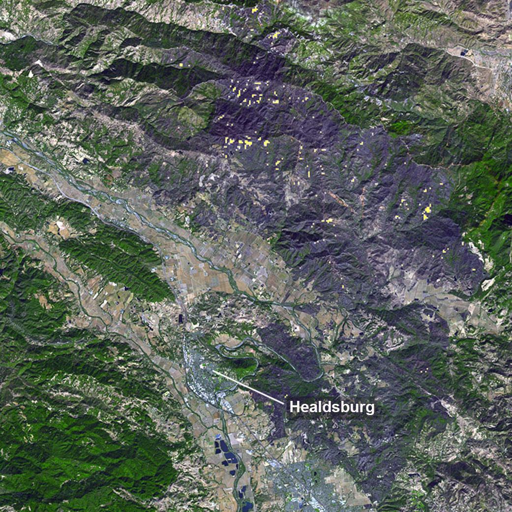 НАСА показало последствия калифорнийского пожара на спутниковом снимке.Вокруг Света. Украина