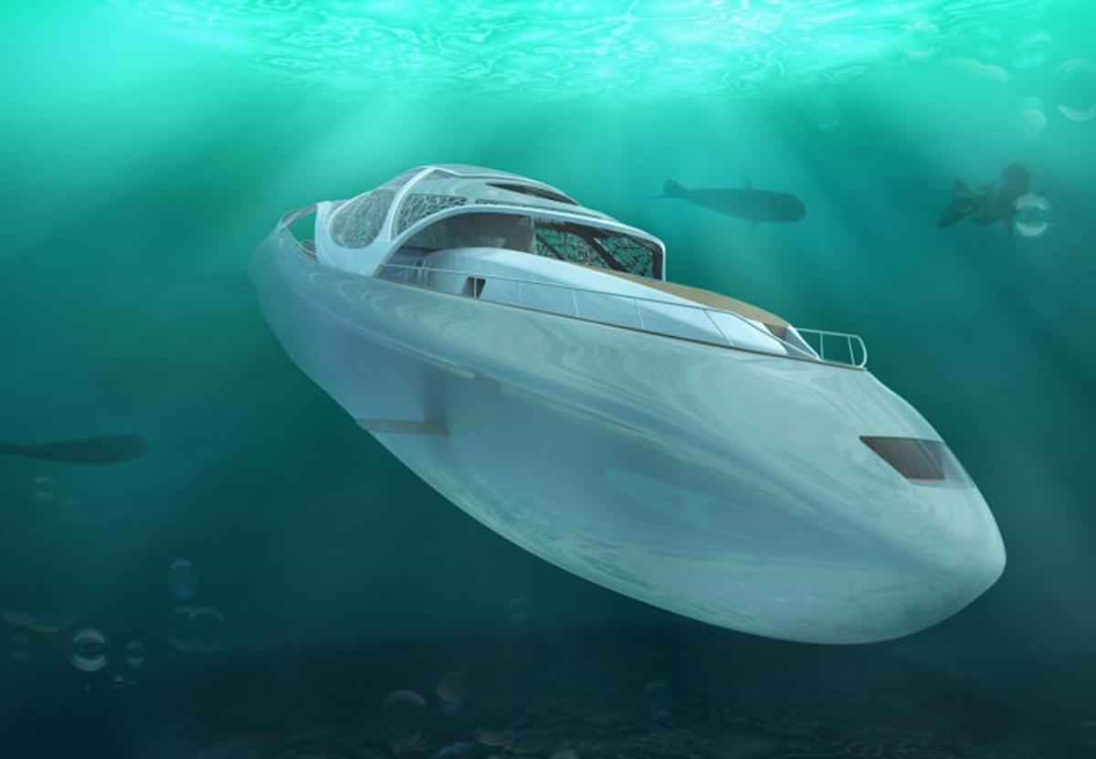 В Италии спроектировали роскошную яхту-субмарину