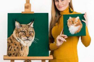 Украинка создает «живые» портреты животных