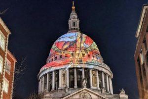В Лондоне гравюра Уильяма Блейка появилась в виде инсталляции