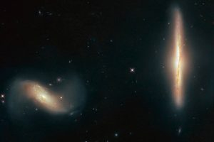 Hubble сфотографировал танец галактик перед слиянием