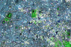 НАСА показало спутниковый снимок загадочного японского кургана