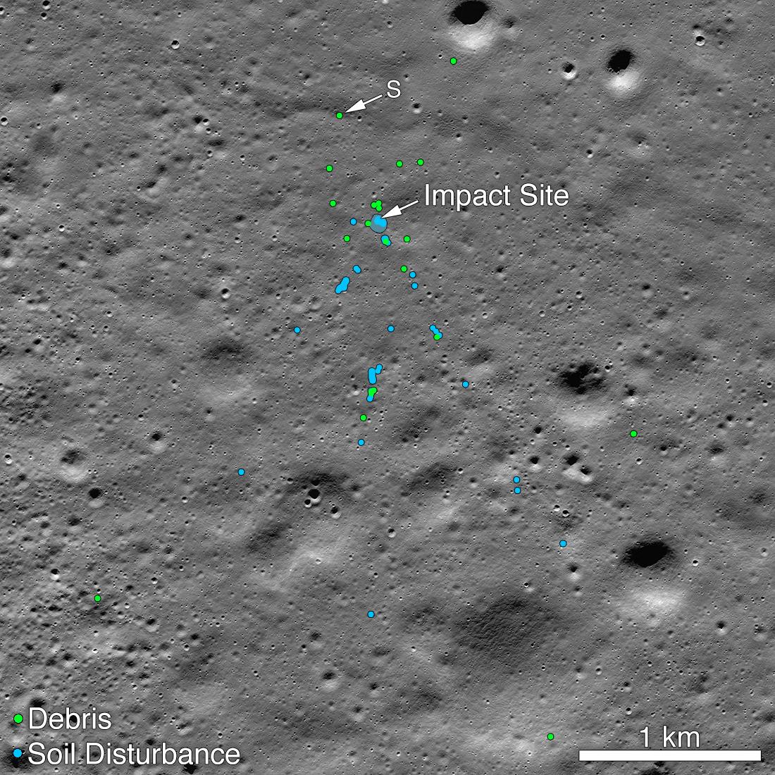 НАСА обнаружило на Луне обломки индийского посадочного модуля «Викрам».Вокруг Света. Украина