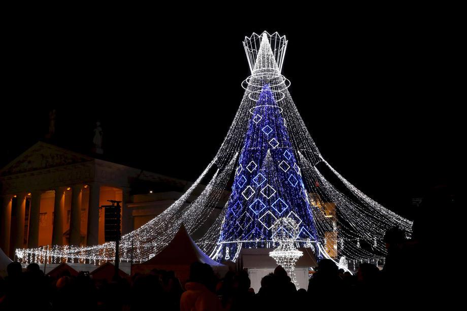 Рождественская елка Вильнюса признана лучшей в Европе
