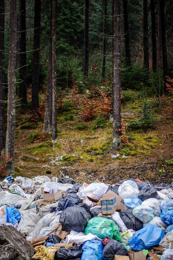 Карпаты после праздника: горы мусора.Вокруг Света. Украина