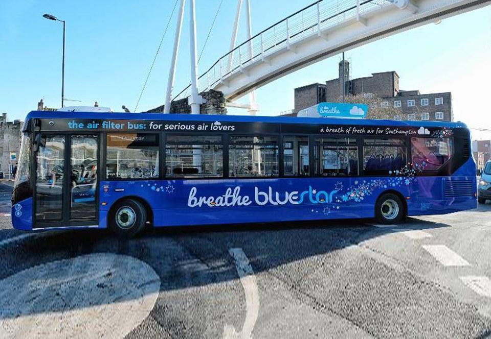 Новые английские автобусы очистят воздух вне салона