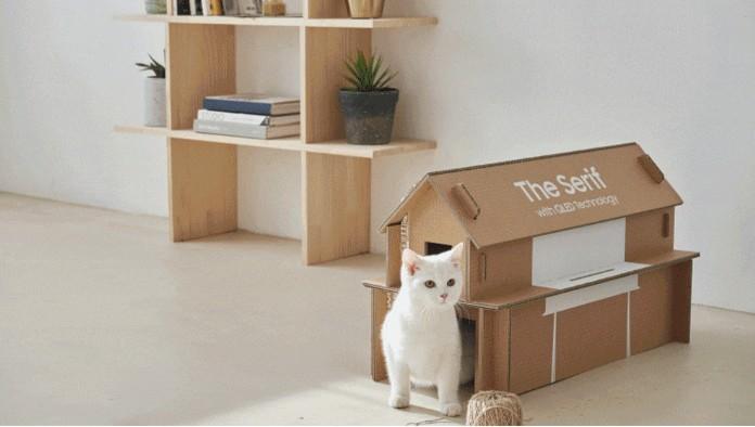 Коробки от техники Samsung можно превратить в мебель