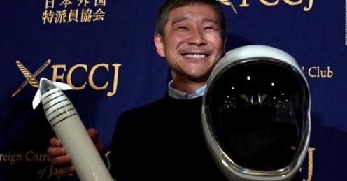 Японский миллиардер ищет спутницу для полета вокруг Луны