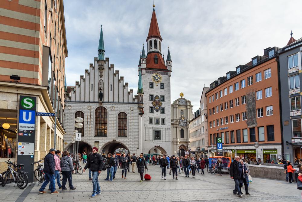 фото Мюнхена старая ратуша