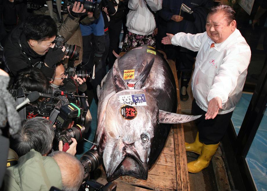 В Японии продали на аукционе тунца за 1,8 млн долларов.Вокруг Света. Украина