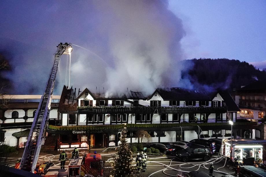 В Германии сгорел один из известнейших ресторанов