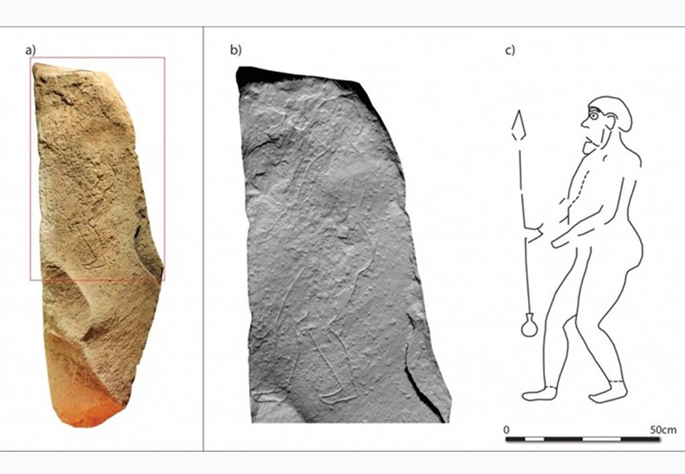 Шотландцы воссоздали образ пиктского воина по рисунку на камне