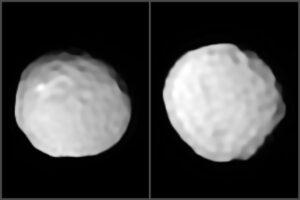 Опубликованы первые снимки астероида Паллада, напоминающего мяч для гольфа