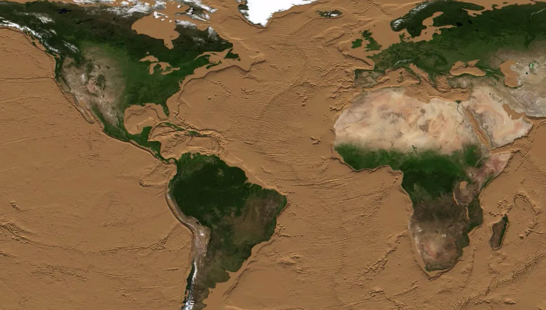 Как будет выглядеть Земля без воды