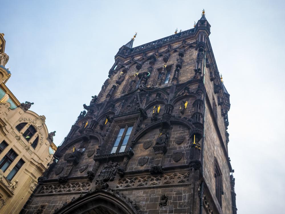 фото Праги Пороховая башня