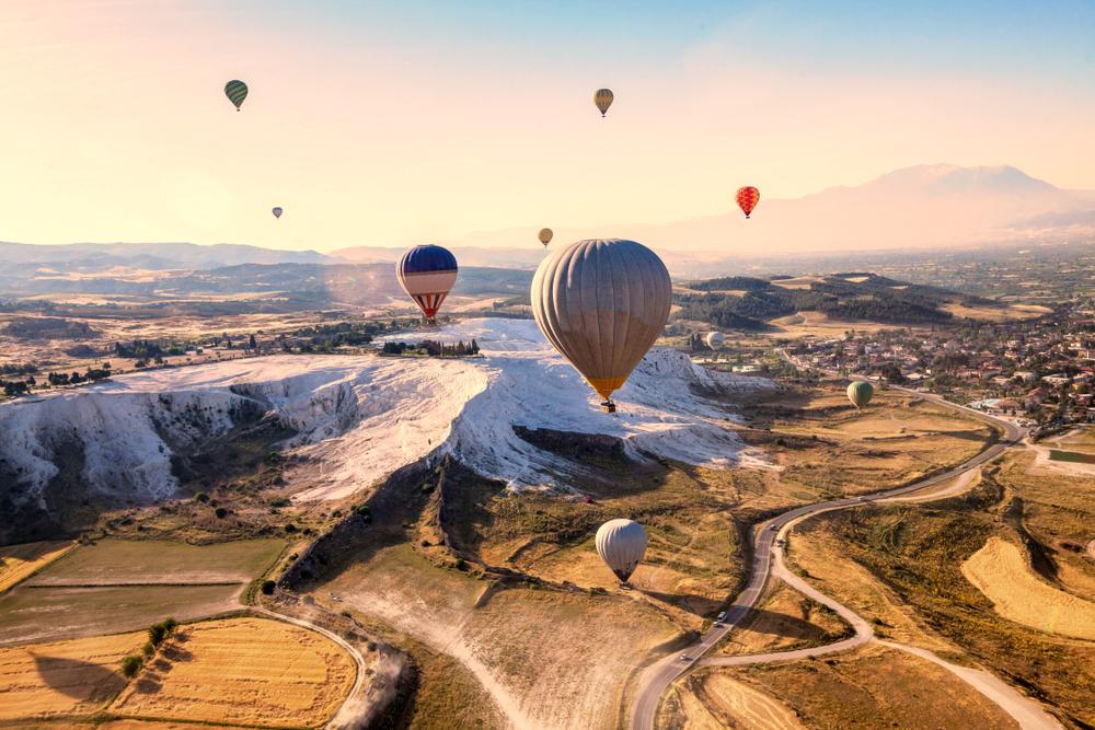 фото Памуккале воздушные шары