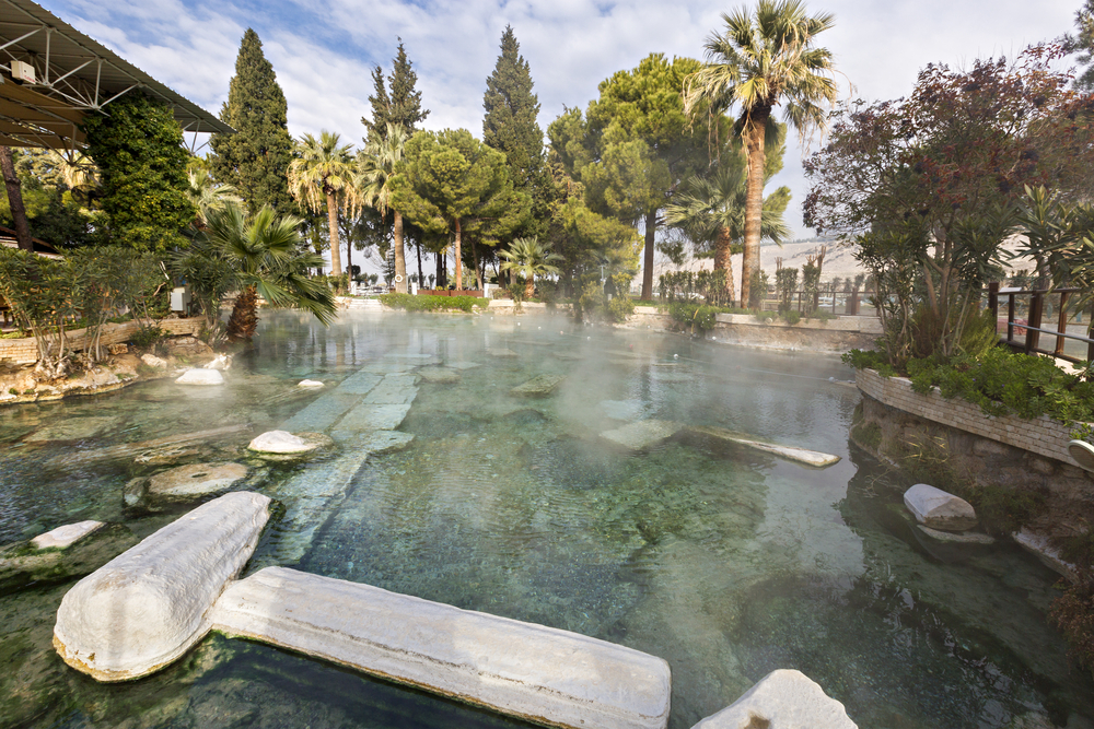 фото Памуккале бассейн Клеопатры