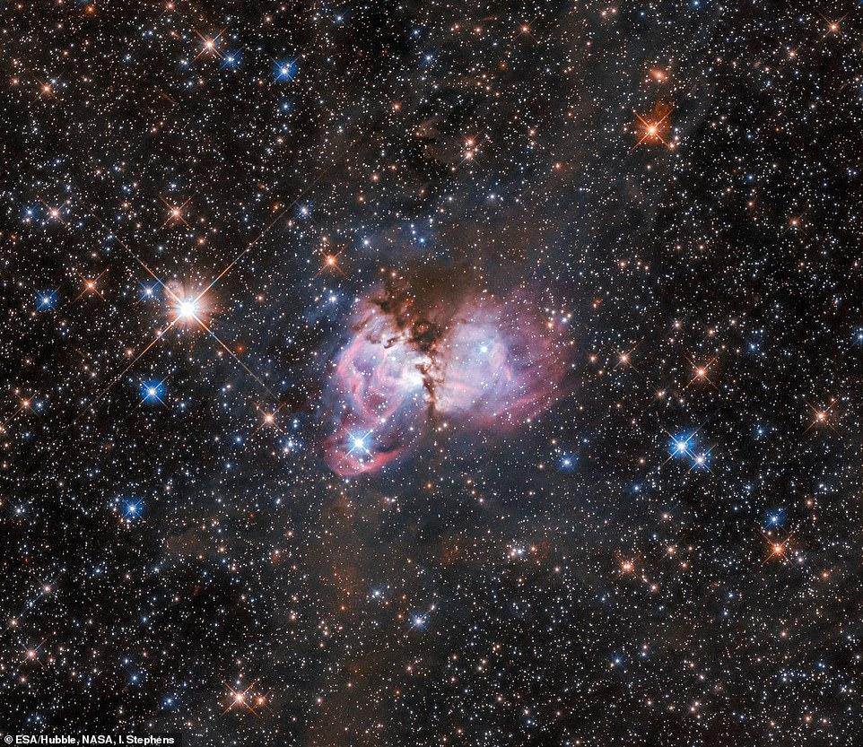 Хаббл запечатлел газовое облако, в котором рождаются звезды