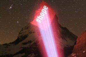 На знаменитой вершине Швейцарии появилась голограмма