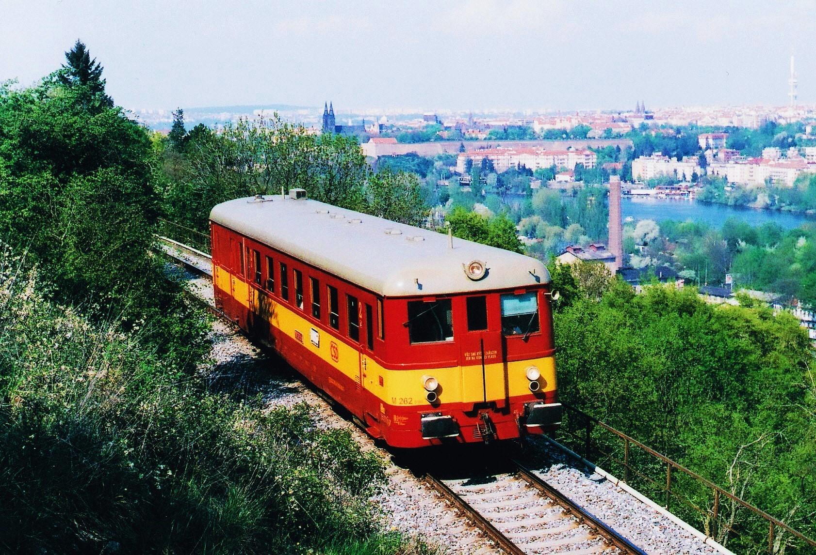 ретро-поезд Прага