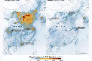 В Китае из-за коронавируса воздух стал чище
