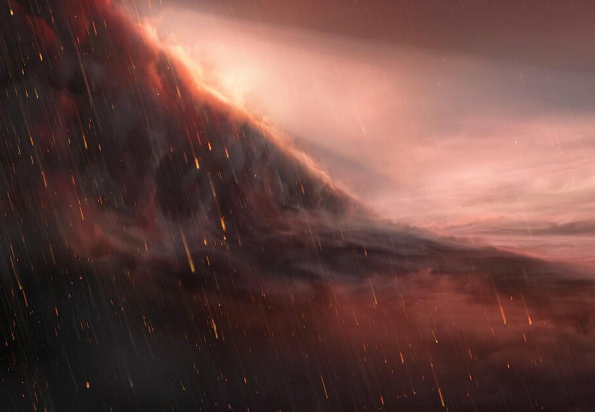 На ультра-горячей экзопланете идут железные дожди