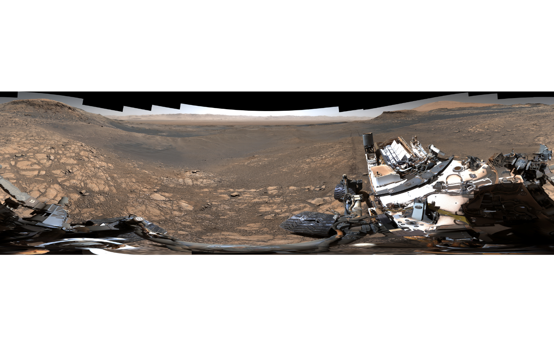 Марсоход Curiosity прислал панораму с Красной планеты (видео)