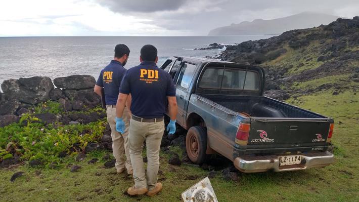 На Острове Пасхи пикап врезался в священную статую моаи