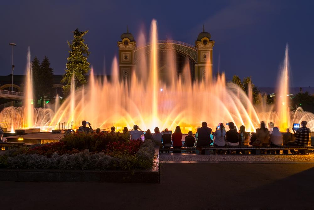 Поющие фонтаны Прага